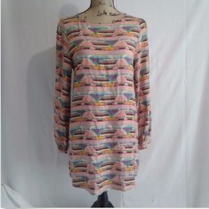 Everly Tunic Shirt Dress Size S Multicolor Print